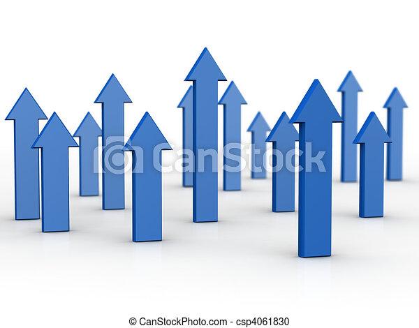 concetto finanziario, crescita, affari - csp4061830