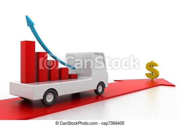 concetto finanziario, crescita - csp7369405