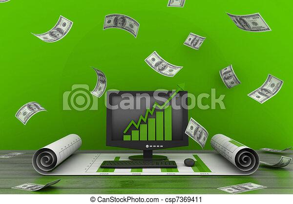 concetto finanziario, crescita - csp7369411