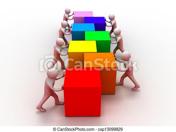 concetto, lavoro squadra - csp13099829