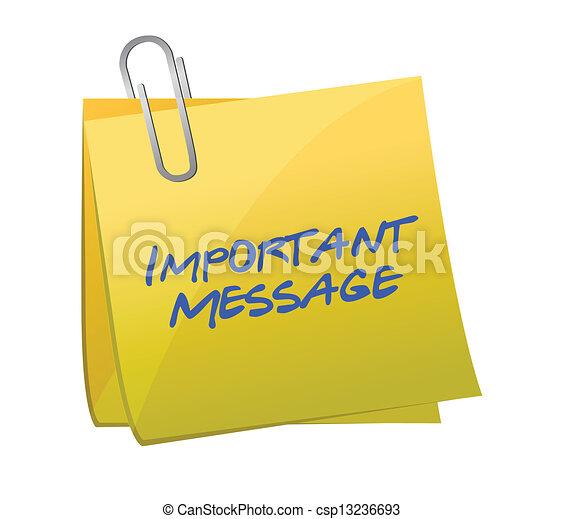 concetto, messaggi, importante, posto-esso - csp13236693