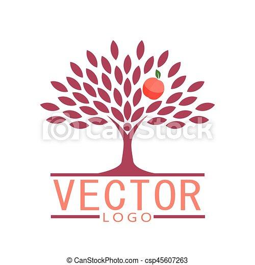 concetto, pesca, persone, eco, -, frutta albero, vector., icona - csp45607263