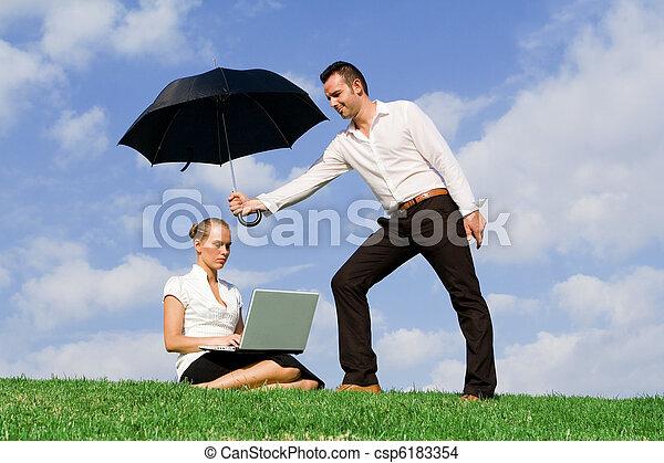 concetto, protezione, assicurazione, affari - csp6183354