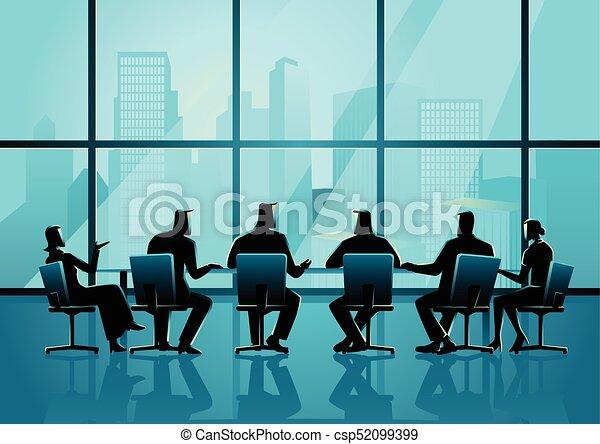 conferenza, persone affari, stanza, esecutivo, detenere, riunione - csp52099399