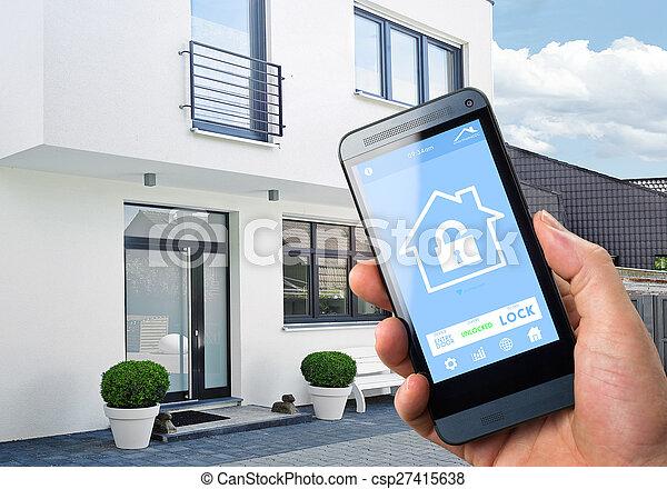 congegno, casa, controllo, -, far male - csp27415638