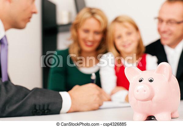 consulente, -, finanza, famiglia, assicurazione - csp4326885