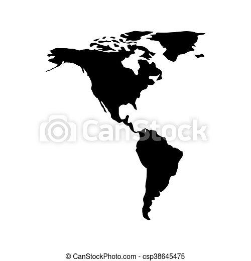 continente, disegno, americano, vettore - csp38645475