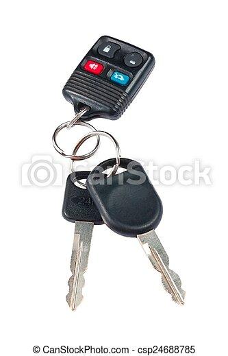 controllo, chiavi, immagine, remoto, automobile - csp24688785