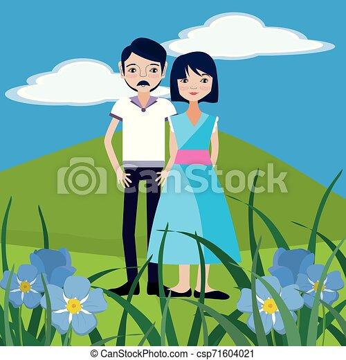 coppia, natura - csp71604021