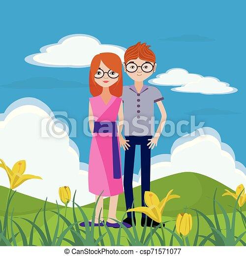 coppia, natura - csp71571077