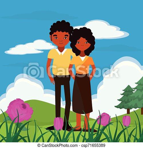 coppia, natura - csp71655389