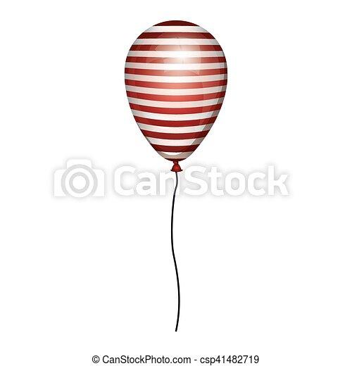 corda, globo, strisce, bianco rosso - csp41482719