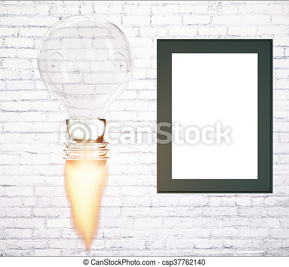 cornice, concetto, avvio, affari, vuoto - csp37762140