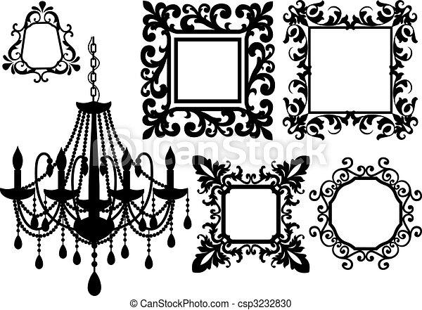 cornici, candeliere, immagine - csp3232830