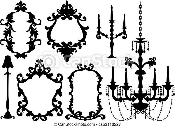 cornici, candeliere - csp3118227