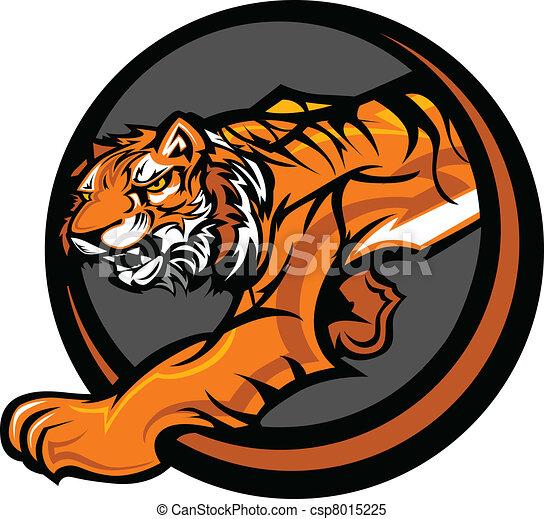 corpo, tiger, vettore, mascotte, grafico - csp8015225