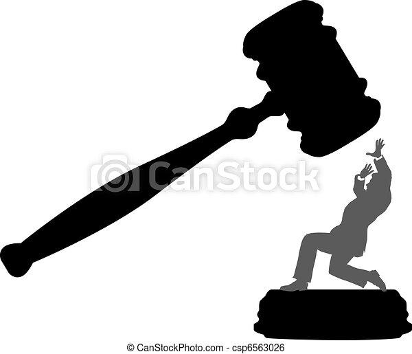 corte, affari, pericolo, persona, ingiustizia, martelletto - csp6563026