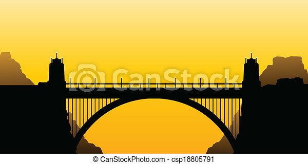 costruire ponte arco - csp18805791