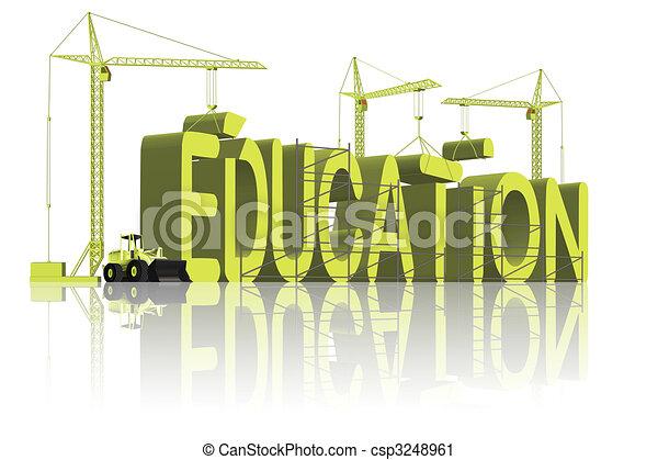 costruzione, educazione - csp3248961