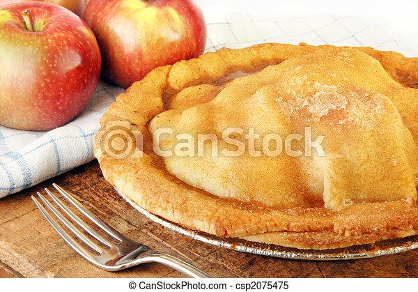 cotto, mela, frescamente, torta - csp2075475