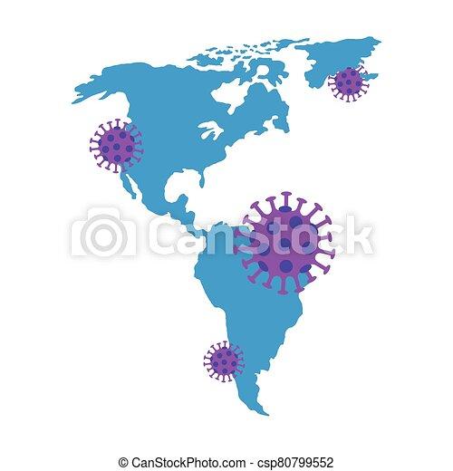 covid19, continente, americano, particelle - csp80799552