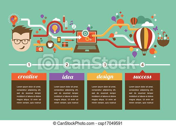 creativo, infographic, disegno, idea, innovazione - csp17049591