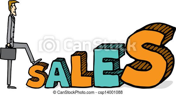 crescente, vendite - csp14001088