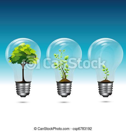 crescente, verde, tecnologia - csp6783192