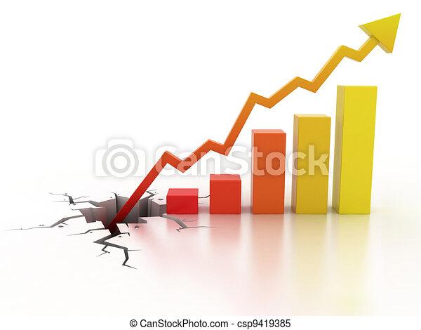 crescita, concetto affari, finanziario - csp9419385