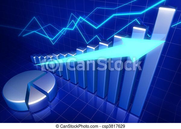 crescita, concetto affari, finanziario - csp3817629