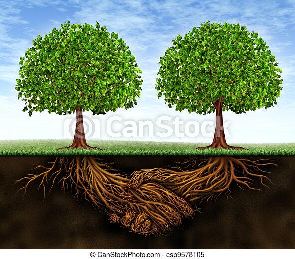 crescita, lavoro squadra, affari - csp9578105
