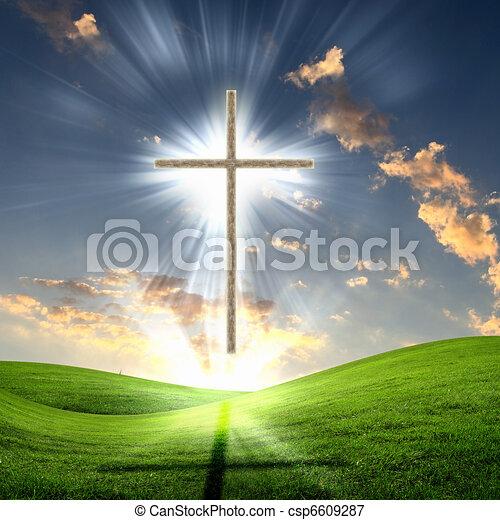 cristiano, cielo, croce, contro - csp6609287