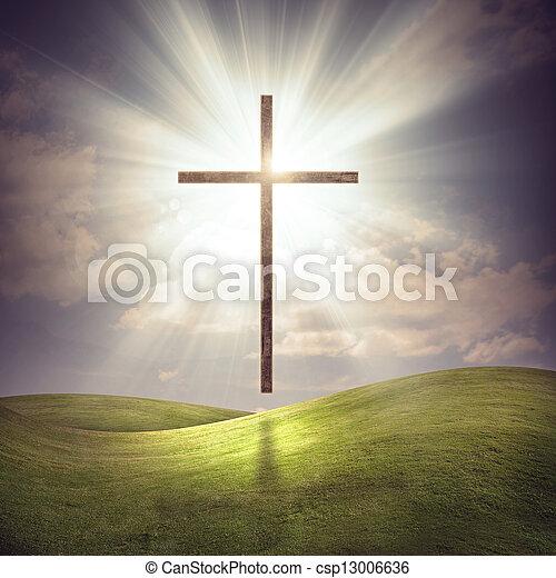 cristiano, croce - csp13006636