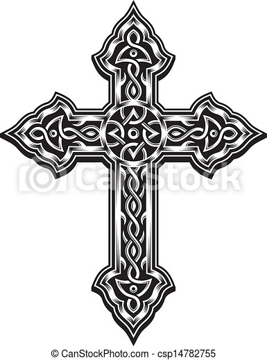 cristiano, croce, ornare - csp14782755