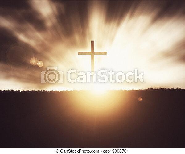 croce, sunset. - csp13006701