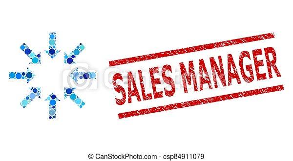 crollo, punti, rotondo, direttore, francobollo, textured, imitazione, composizione, vendite, frecce - csp84911079