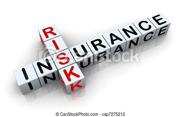 cruciverba, 3d, risk', 'insurance - csp7275212