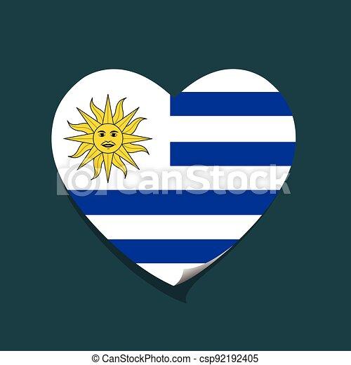 cuore, amore, uruguay - csp92192405