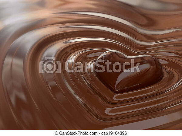 cuore, cioccolato - csp19104396