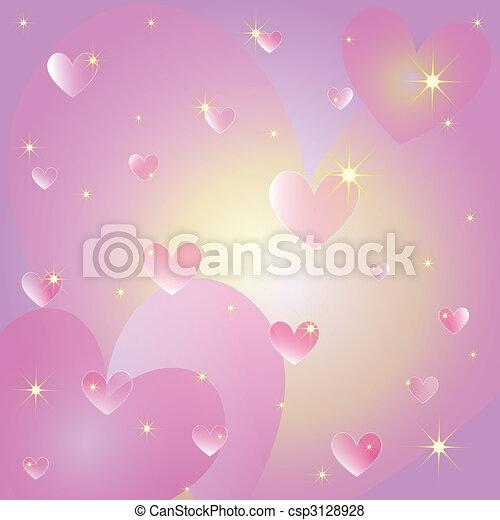 cuori, st, cartolina auguri, valentina - csp3128928