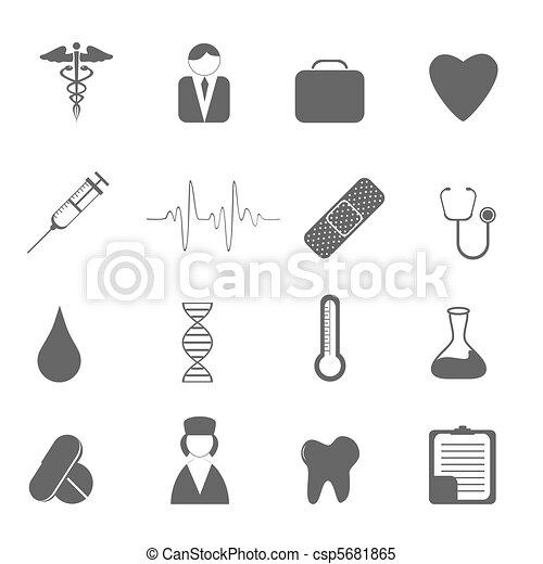 cura, salute, icone - csp5681865