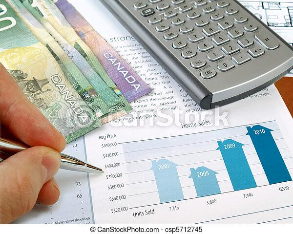 curva delle vendite, casa - csp5712745