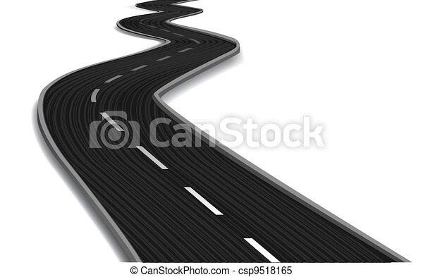 curvo, vettore, bridge., strada - csp9518165