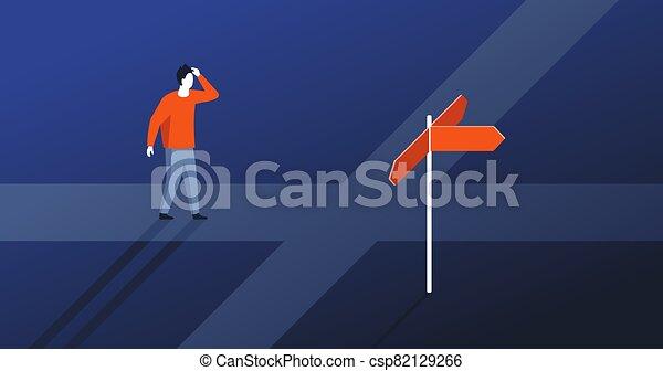 decisione, scegliere, direzione, fabbricazione, destra - csp82129266
