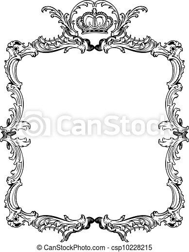 decorativo, illustration., vendemmia, vettore, ornare, frame. - csp10228215