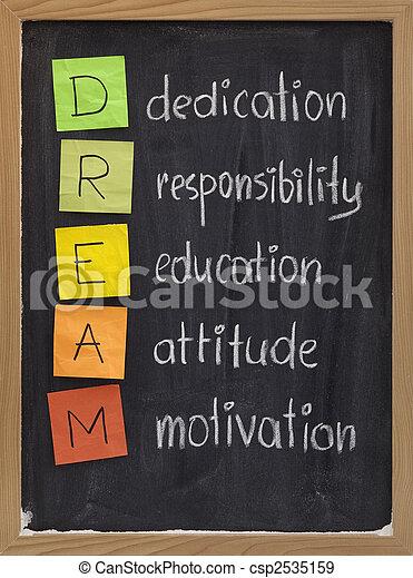 dedica, atteggiamento, educazione, responsabilità, motivazione - csp2535159