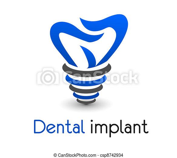 dentale, icona - csp8742934