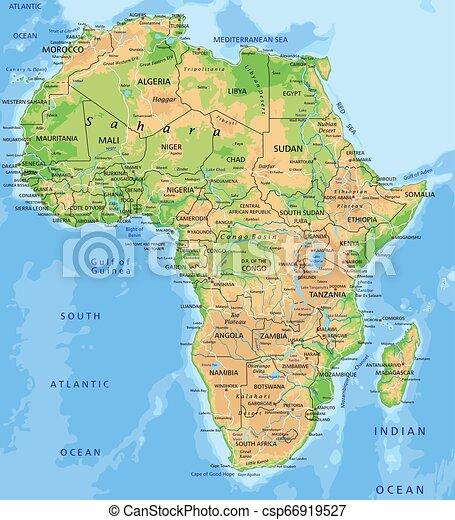 Cartina Politica Del Marocco.Cartina Politica Africa Del Nord