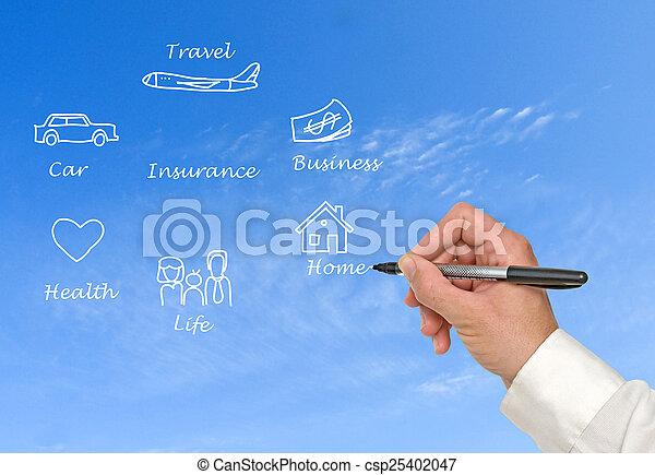 diagramma, assicurazione - csp25402047