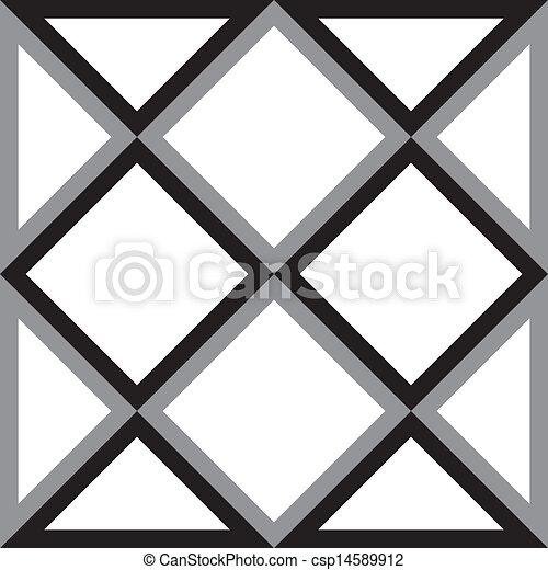 diamante, triangolo, astratto, quadrato, fondo, trydimensional, illusione - csp14589912